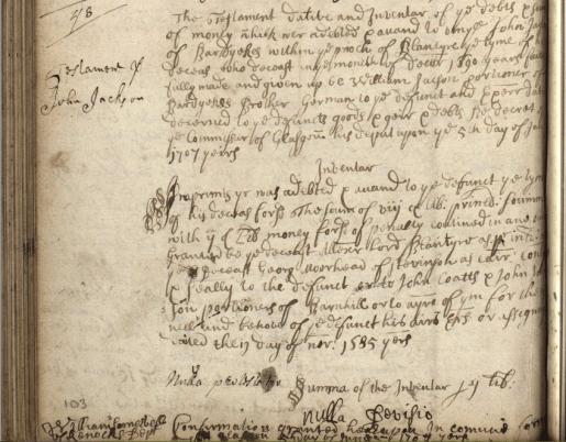1707 John Jacksons will