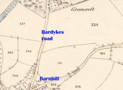1859 map of Greencroft
