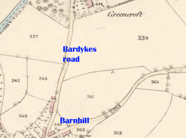 1859 map of Greencroft