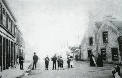Kirkton, Main Street 1880. Restored by PV