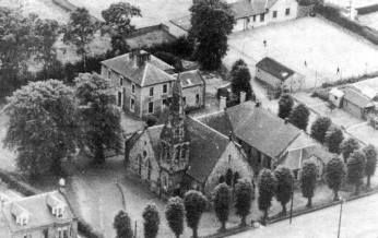 1955 Anderson Church, Stonefield Rd from above