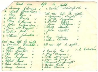 1955 Ness School Names