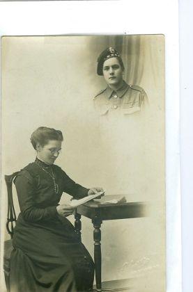 1915 Margaret Wilson's Grannie Morton and dad John Morton in his HLI uniform before he left for WW1 around 1915