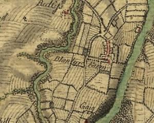 1747 map Blantyreferme