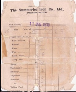 1930 miners payslip