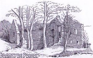 Blantyre Priory sketch