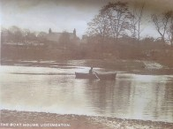 c1910 The Boathouse Farm and Boathouse Cottage from Uddingston (PV)