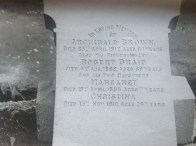 Gravestone of the Browns of Boathouse, Boatland, Blantyre