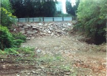 2005 Blantyre works Mills, following demolition