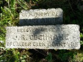2014 Cochrane Chapel plaque cleaned by Alex Rochead in April
