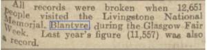 1944 David Livingstone record