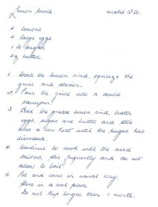 1970 recipe for Lemon curd