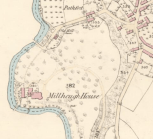1859 Map showing no lade at the mill