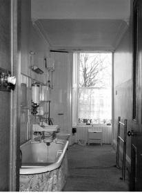 1982 West Bathroom at Caldergrove House, a year before demolished