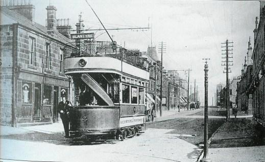 1905 Glasgow road & tram