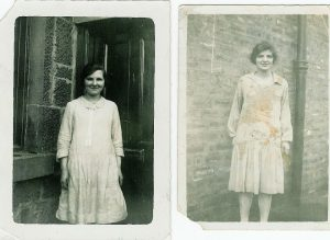1929 Jenny and Mary Danskin at Broompark Rd