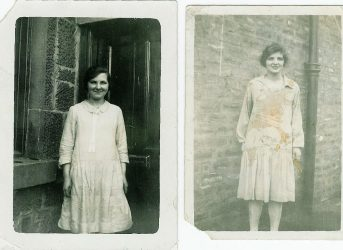 1925 Jenny and Mary Danskin at Broompark Rd