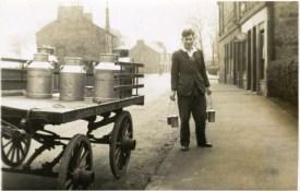 c1947 Arthur Rochead delivering milk (Hunthill Rd) by Alex Rochead
