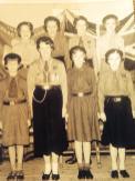 1956 Girl Guides at Blantyre Old Parish Church