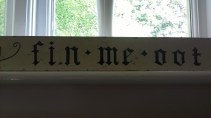 2014 The Original 1960s Fin Me Oot Sign now in Isla Arrendell's holiday home in Wales