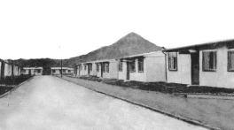 1949 Auchinraith Prefabs with bing behind