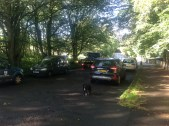2014 27th August. Cars start parking outside and on the Stoneymeadow rd