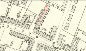 1936 Map showing Alpine Street Tenements