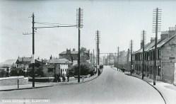 1936 Glasgow Road following tram removal