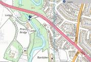 2014 Prior Bridge on modern map