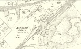1910 Auchinraith Rows Map