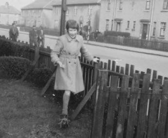 1957 Betty Simpson at Victoria St. Shared by Betty Weaver