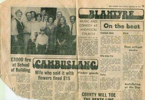 1972 Blantyre Page EK News