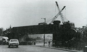Late 1970s Demolition of Railway Bridge at Glasgow Road