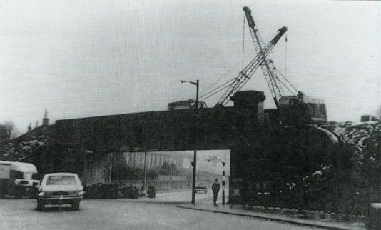 1975 Demolition of Railway Bridge at Glasgow Road