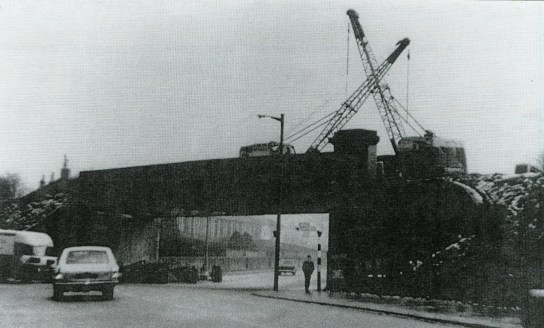 1975 Demolition of Railway Bridge at Glasgow Road