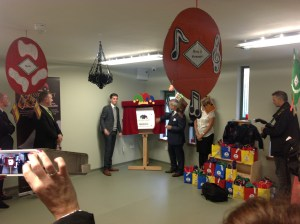 Wed 29th October 2014. Mitchell Kinnen opens Crossbasket Nursery