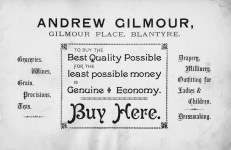 Andrew Gilmour Advert 2