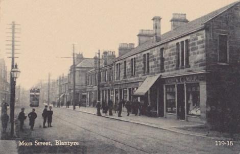 1910 Tram Glasgow Rd Blantyre