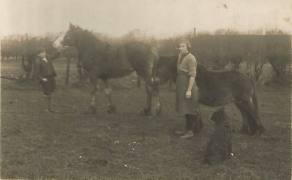 1925 Annie Main Marshall & brother Alex Main at Little Udston Farm by Jim Cochrane