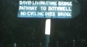 1970 Suspension Bridge Sign. Shared by E Kerr