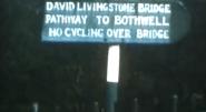 1970 Suspension Bridge Sign. Shared by E Kerr