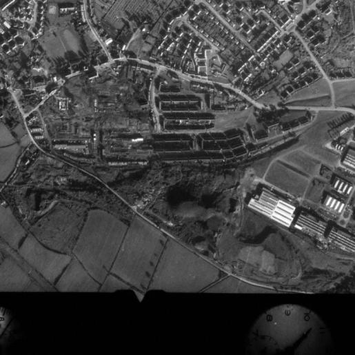 1971 Aerial Photo of High Blantyre from Robert Brownlie