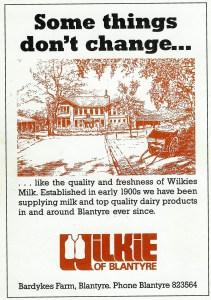 1988 Advert for Wilkies Farm