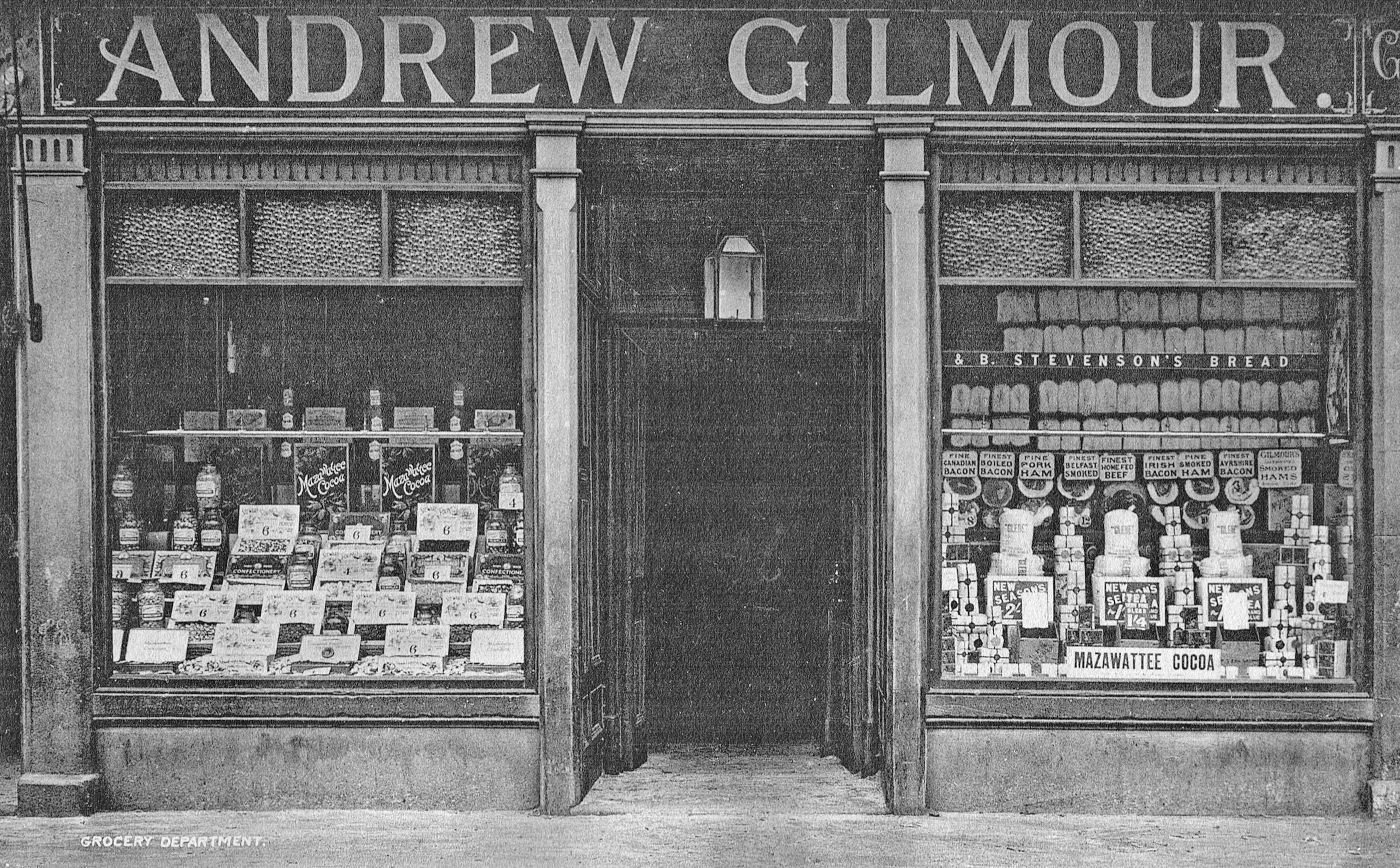 1910s Gilmours Grocers. Shared by RDS