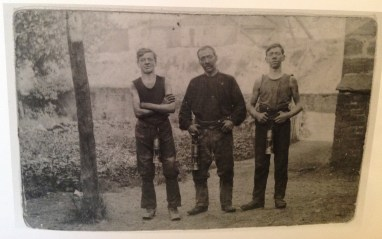 1926 Three Blantyre Miners at Priory Colliery (PV)