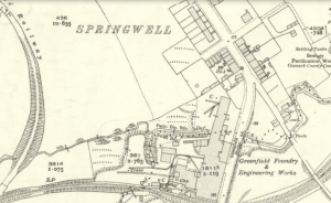 1936 Springwell Map. Embankment on the bend