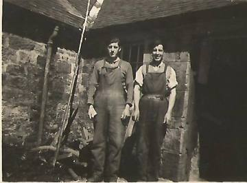 c1942 Bobby and Archie Marshall at Calderside. Shared by J Cochrane