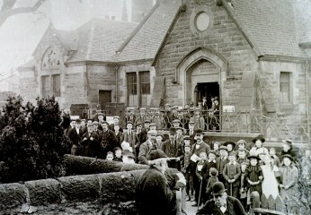 1905 High Blantyre Polling Station. Photo by D Ritchie