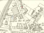 1910 Sawmill window marked in blue
