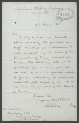 1881 Application for early operation